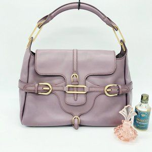 Jimmy Choo Pink Tulita Leather Satchel
